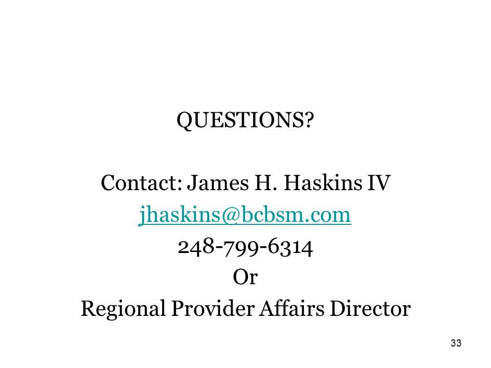 QUESTIONS.Contact: James H.