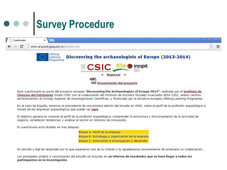 Survey Procedure
