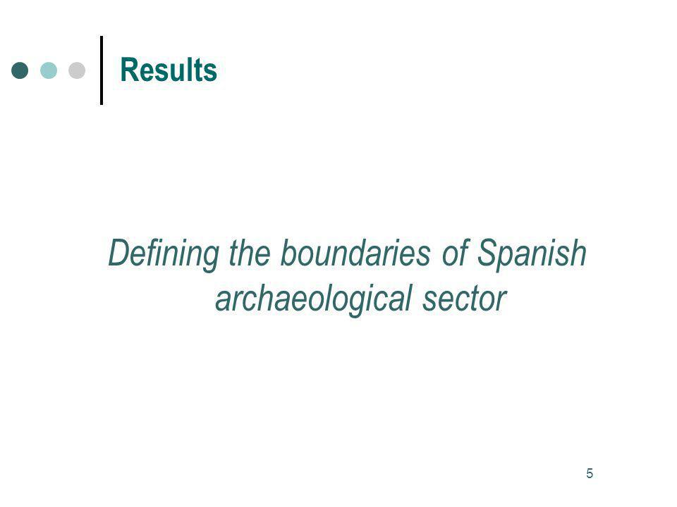 Defining the boundaries of Spanish archaeological sector 5 Results