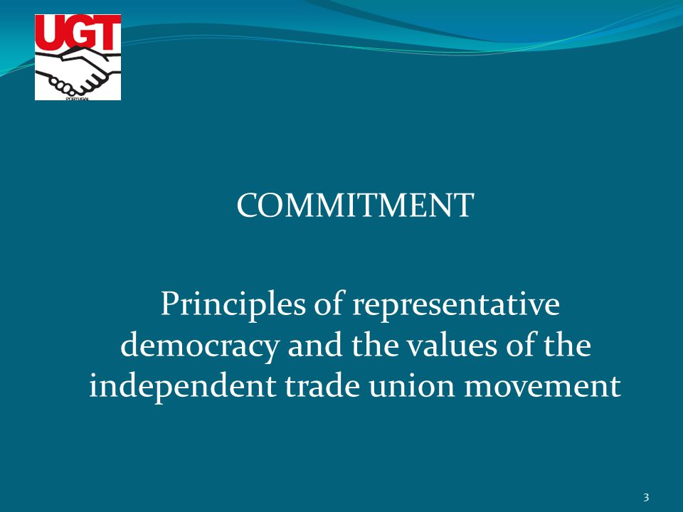 COMMITMENT Principles of representative democracy and the values of the independent trade union movement 3