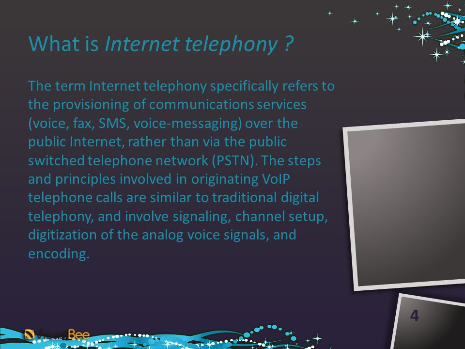 What is Internet telephony .