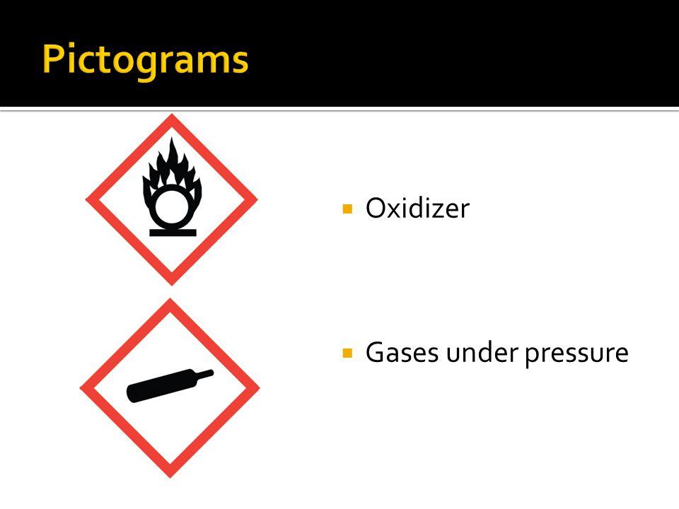 Oxidizer Gases under pressure