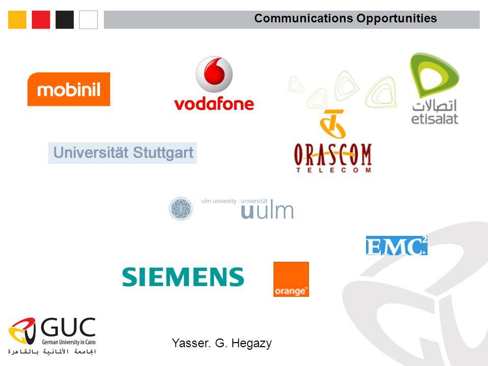 Yasser. G. Hegazy Communications Opportunities