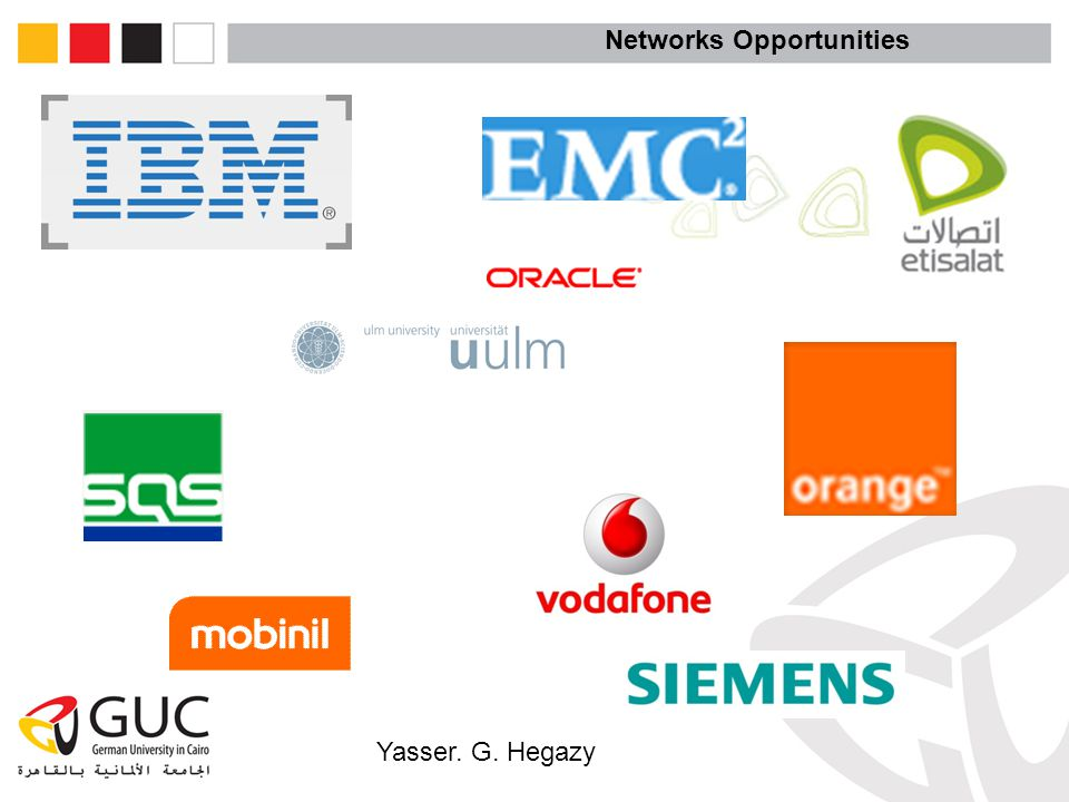 Yasser. G. Hegazy Networks Opportunities