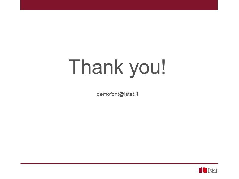 Thank you! demofont@istat.it