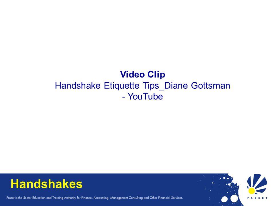Handshakes Video Clip Handshake Etiquette Tips_Diane Gottsman - YouTube