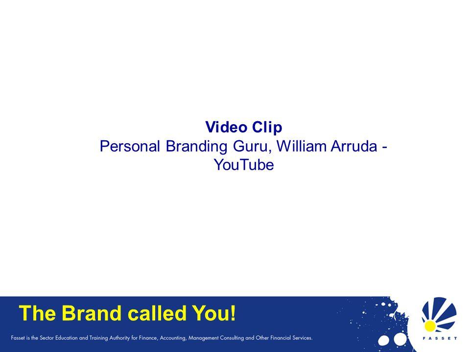 The Brand called You! Video Clip Personal Branding Guru, William Arruda - YouTube
