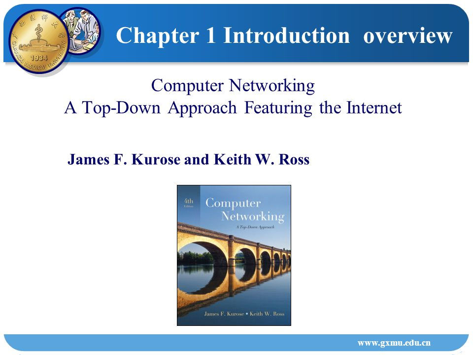 Chapter 1 Introduction overview 1 Andrew S.Tanenbaum, Computer Networks, 4 rd ed, Prentice Hall, 2003 ( 4 ),, 2 3 William Stallings 4 Douglas E.Comer