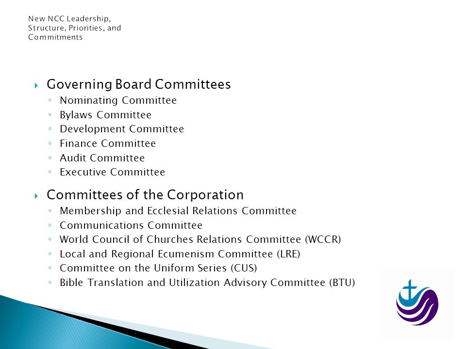 Governing Board Committees Nominating Committee Bylaws Committee Development Committee Finance Committee Audit Committee Executive Committee Committee