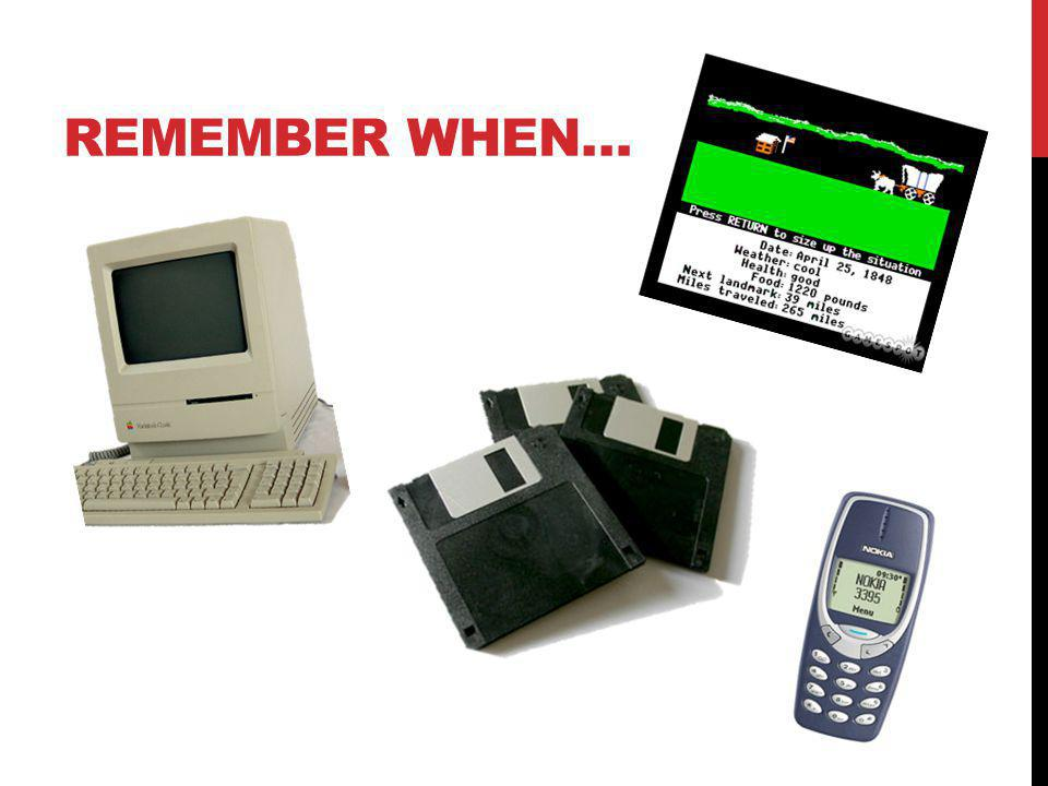 REMEMBER WHEN YOU… Got your first: Computer Computer game Email address IM screenname Cell phone Pager?!.