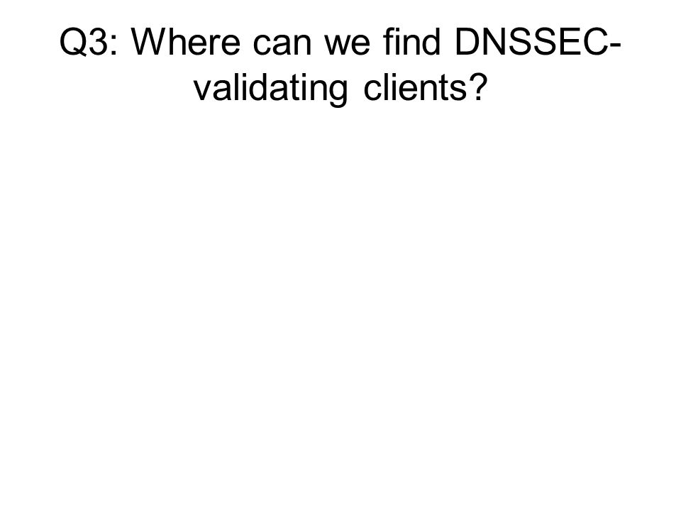 Q3: Where can we find DNSSEC- validating clients?