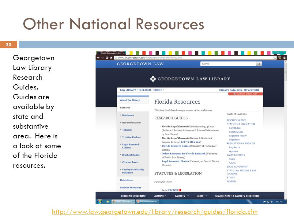 Other National Resources Georgetown Law Library Research Guides.