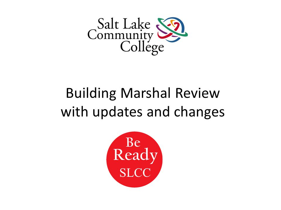 Building Marshal Review with updates and changes SLCC