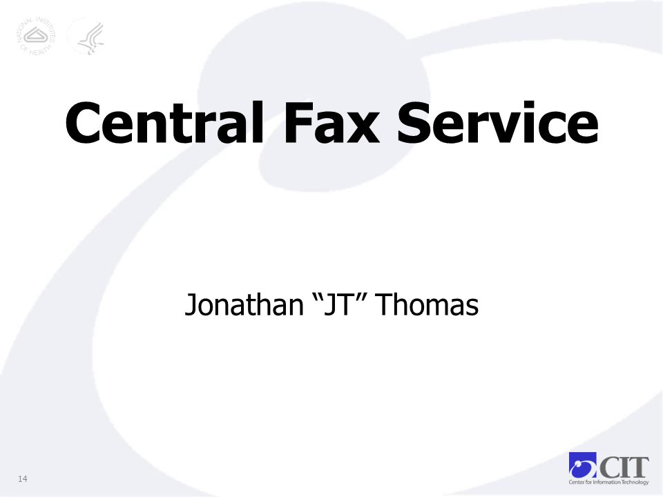 Central Fax Service Jonathan JT Thomas 14