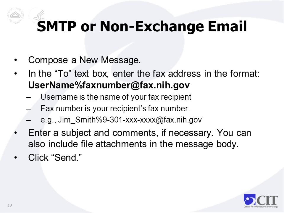 SMTP or Non-Exchange Email Compose a New Message.