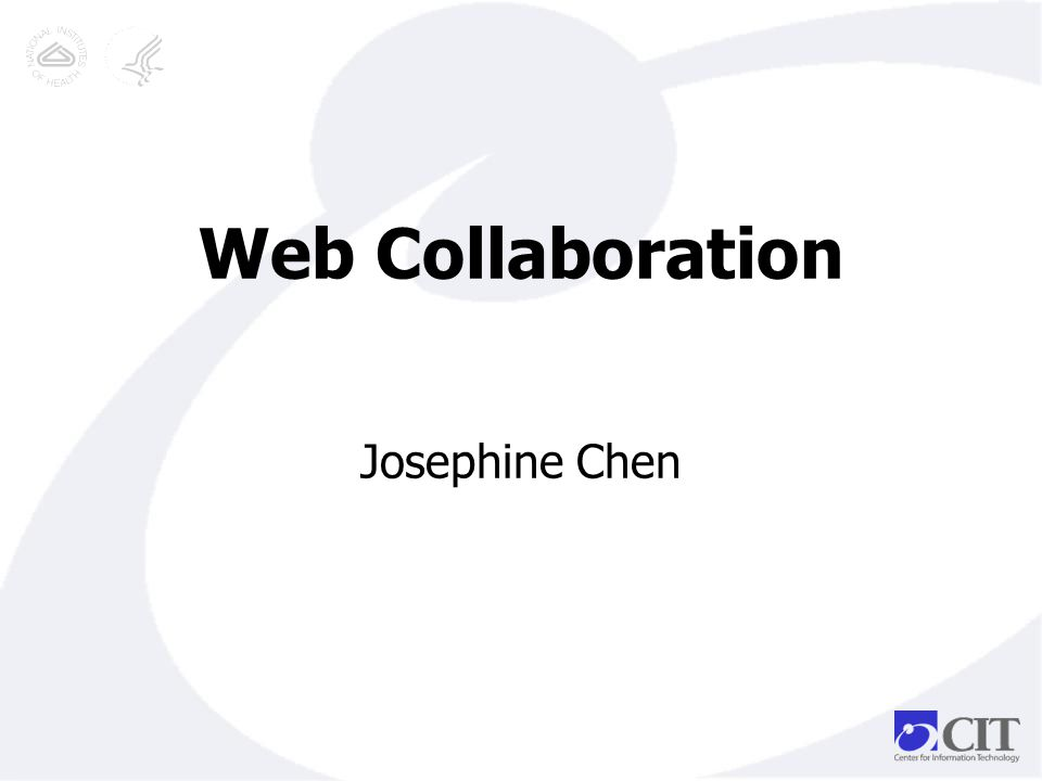 Web Collaboration Josephine Chen