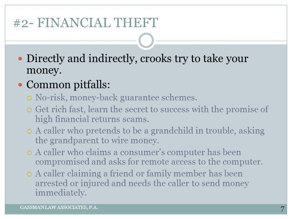 #2- FINANCIAL THEFT GASSMAN LAW ASSOCIATES, P.A.