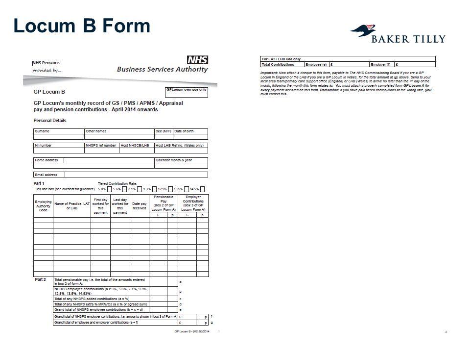 Locum B Form