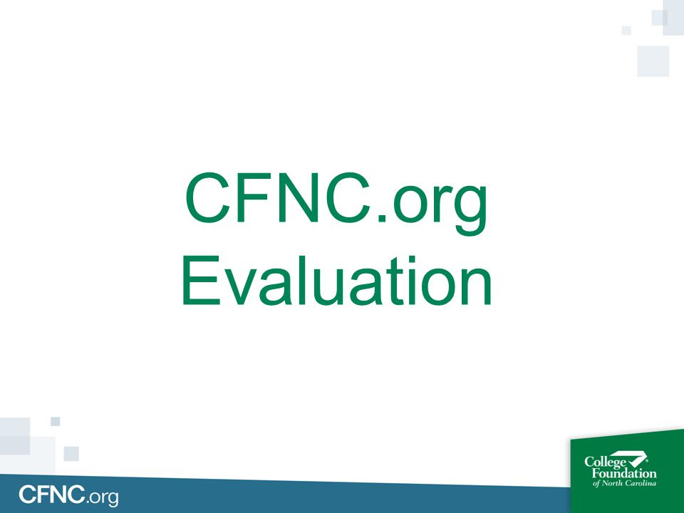 CFNC.org Evaluation
