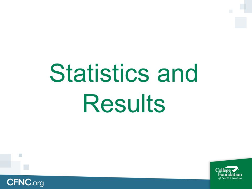 Statistics and Results