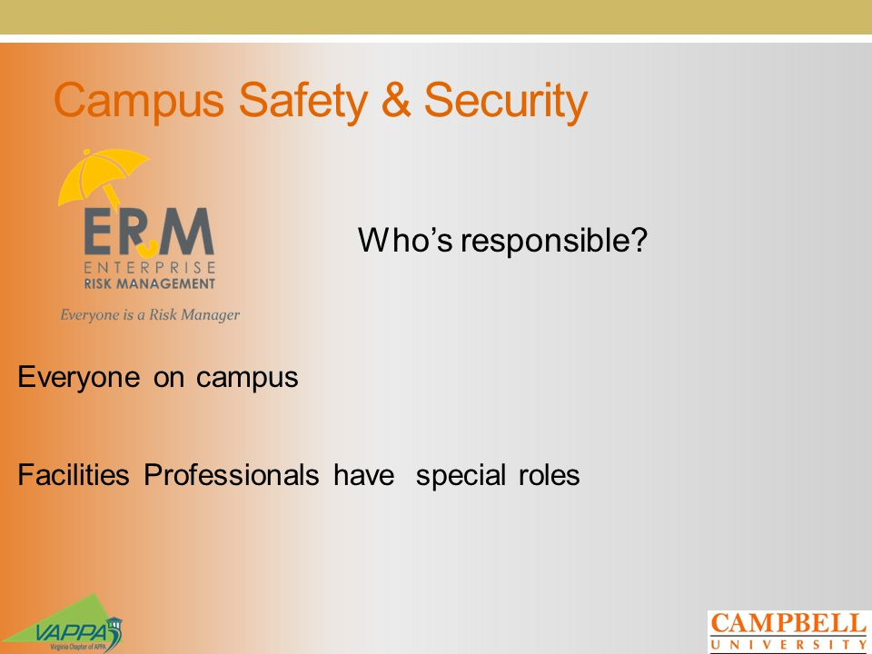Campus Safety & Security Whos responsible.