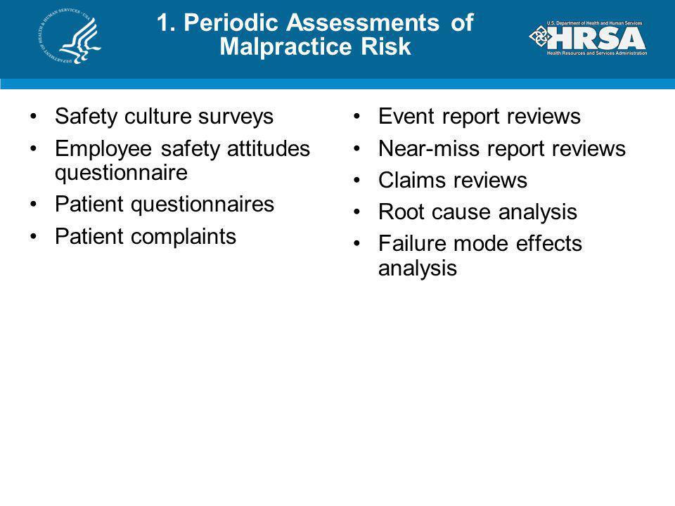 Safety culture surveys Employee safety attitudes questionnaire Patient questionnaires Patient complaints Event report reviews Near-miss report reviews