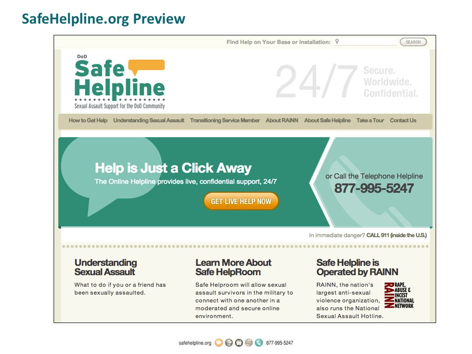 SafeHelpline.org Preview