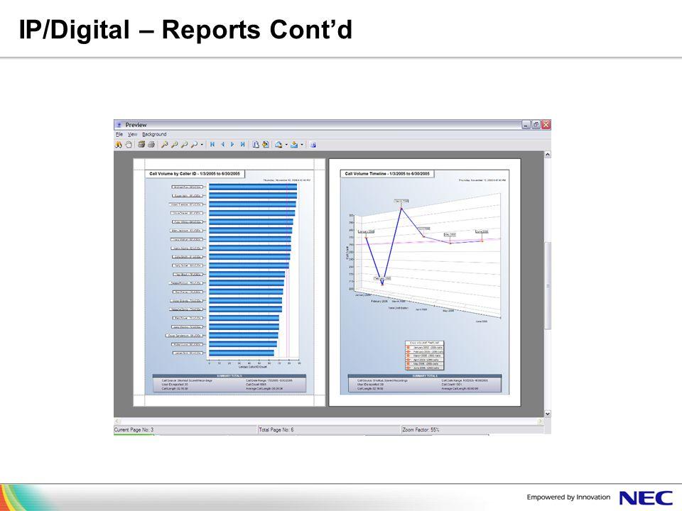 IP/Digital – Reports Contd