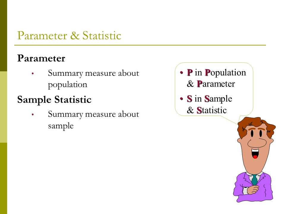 Summary Measures of All Sample Means