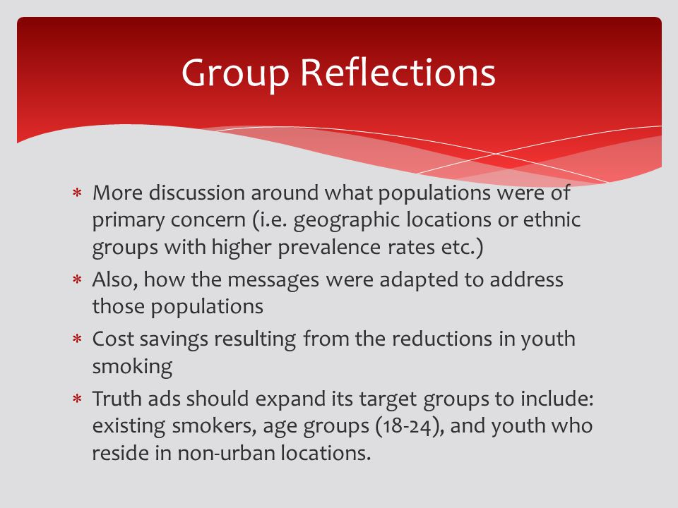 More discussion around what populations were of primary concern (i.e.