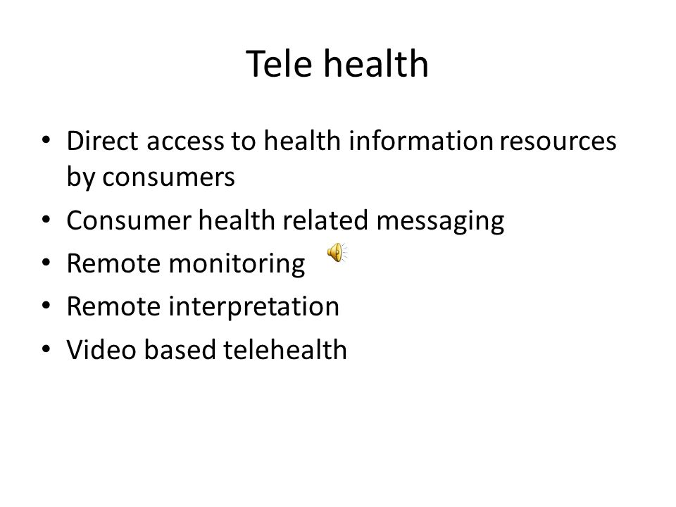 TeleHealth Telehealth is the delivery of health-related services and information via telecommunications technologies. Telehealth delivery could be as
