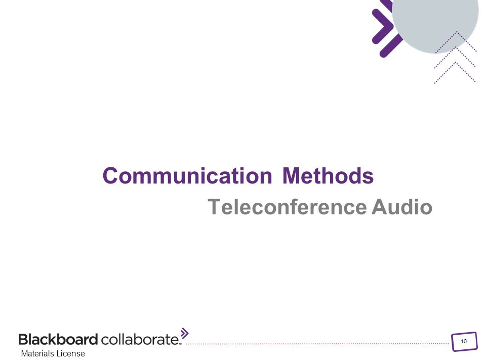 10 Materials License Communication Methods Teleconference Audio