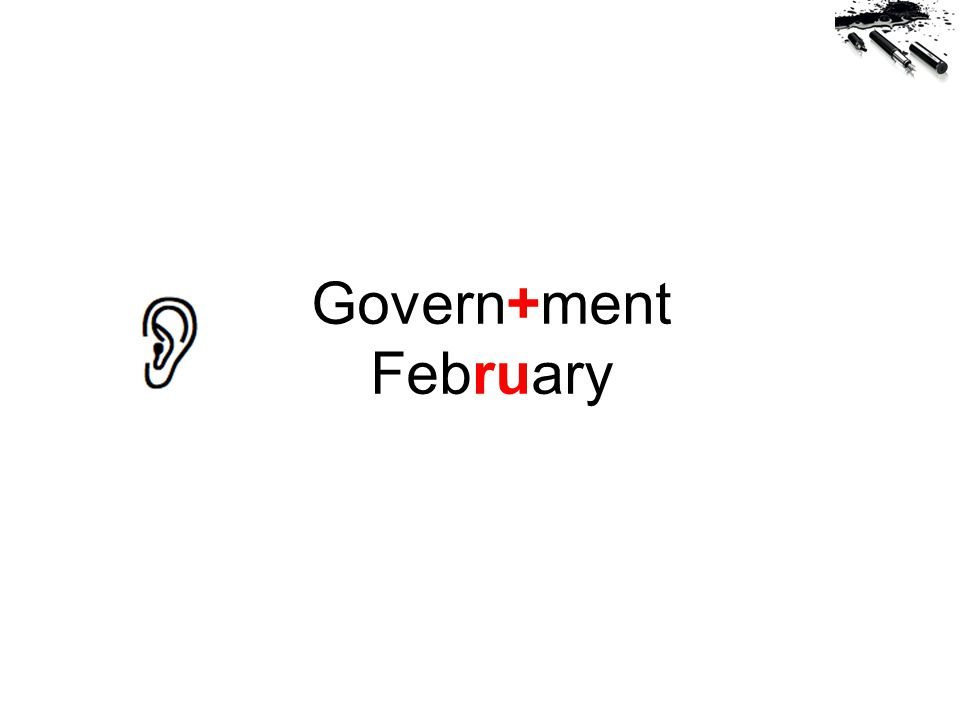 Govern+ment February