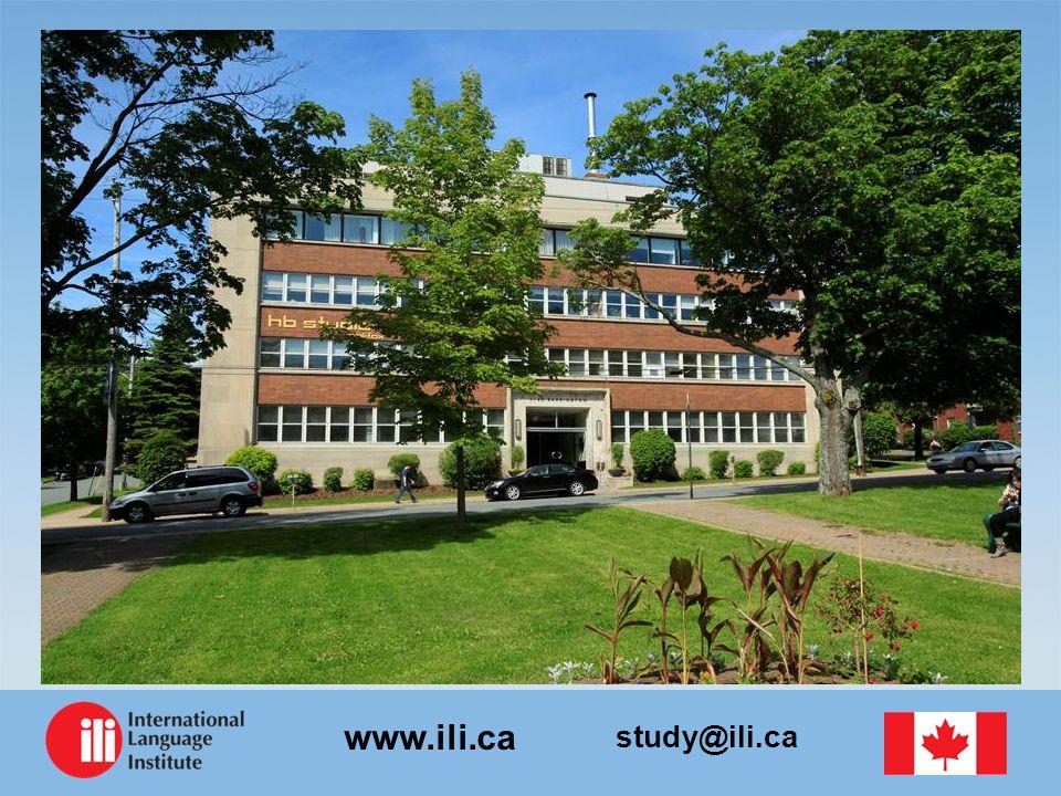 study@ili.ca www.ili.ca الحرم الجامعي للمعهد الدولي للغات