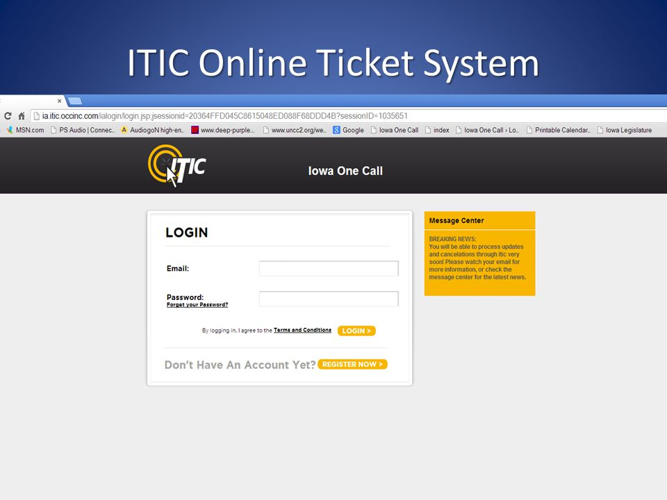 ITIC Online Ticket System