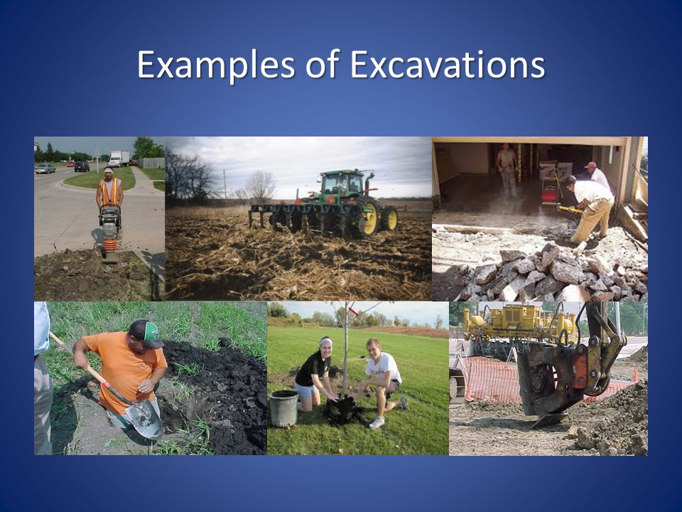 Examples of Excavations