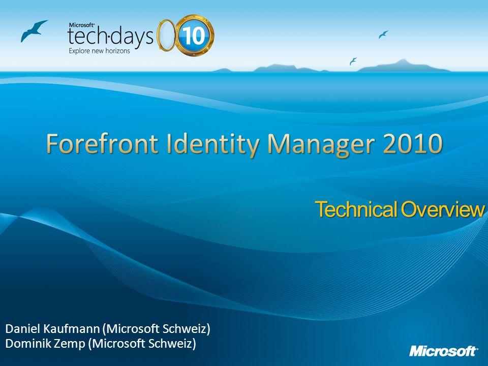 Daniel Kaufmann (Microsoft Schweiz) Dominik Zemp (Microsoft Schweiz) Technical Overview