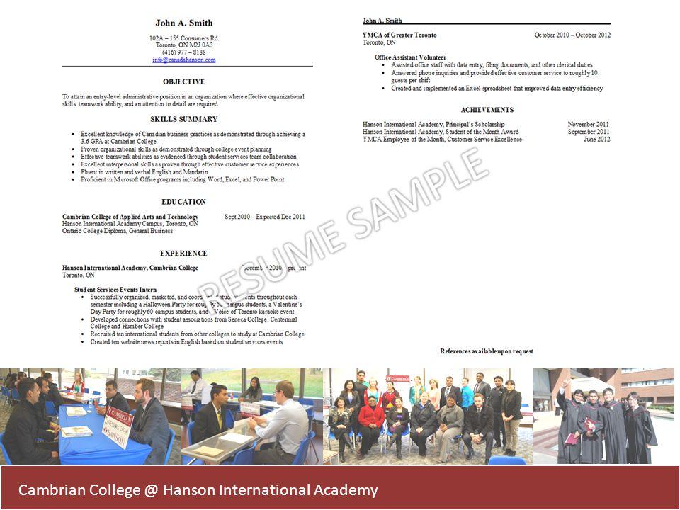 Cambrian College @ Hanson International Academy