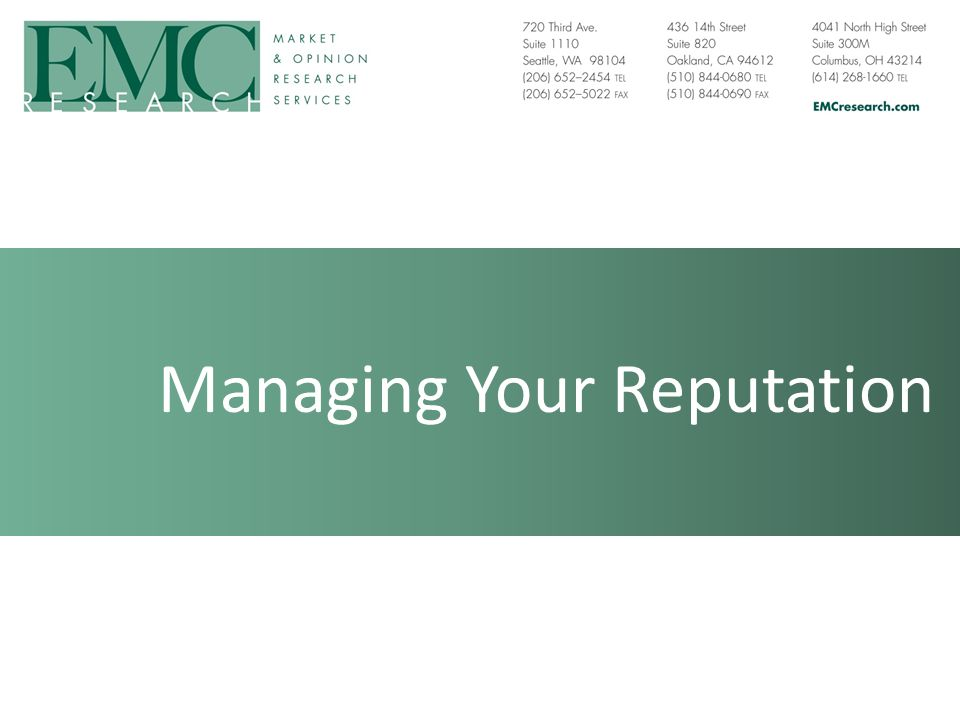 Managing Your Reputation