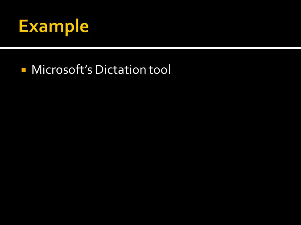 Microsofts Dictation tool