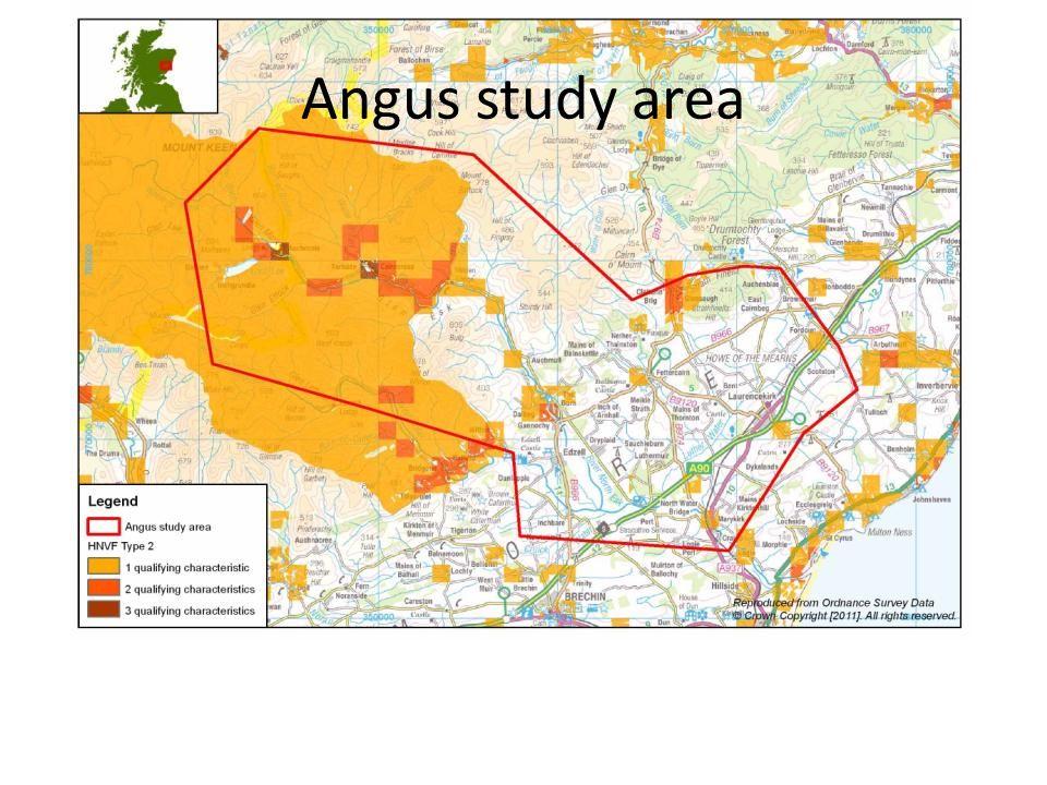 Angus study area