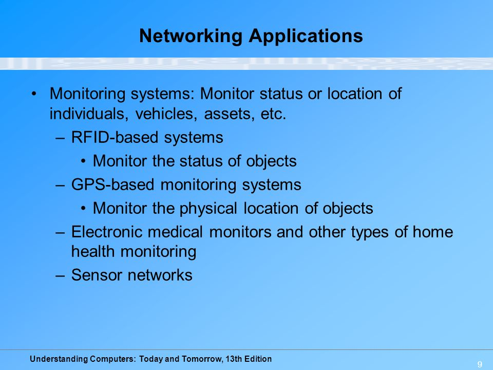 Understanding Computers: Today and Tomorrow, 13th Edition 60 Summary What Is a Network.