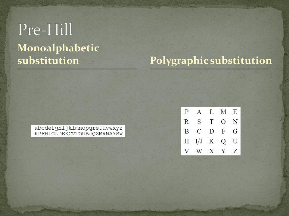 Monoalphabetic substitutionPolygraphic substitution