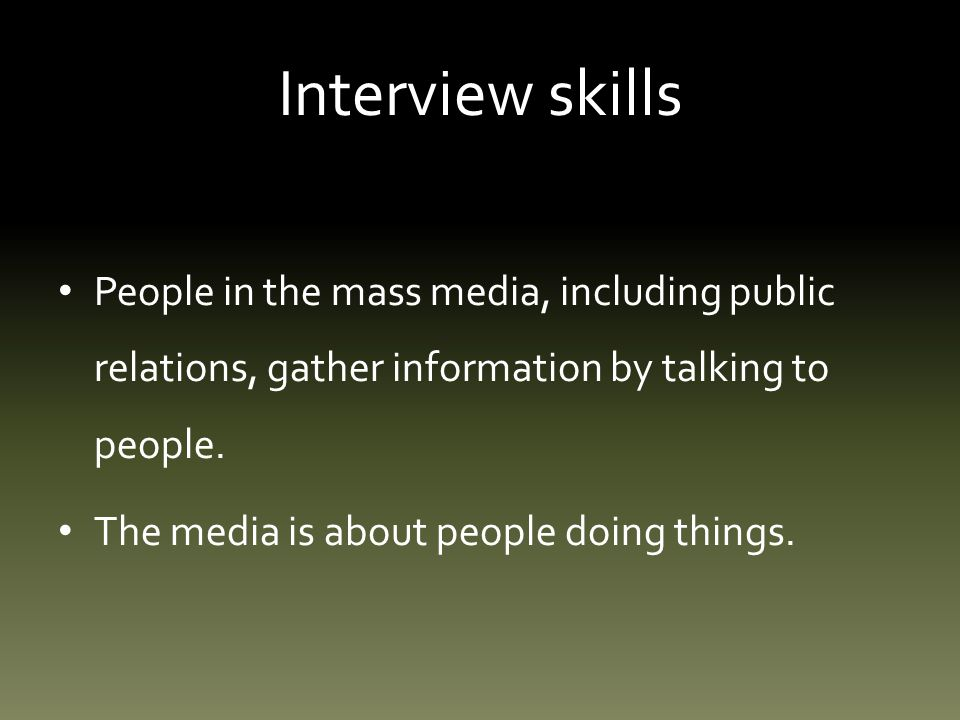 Interview skills: step five Attributions.