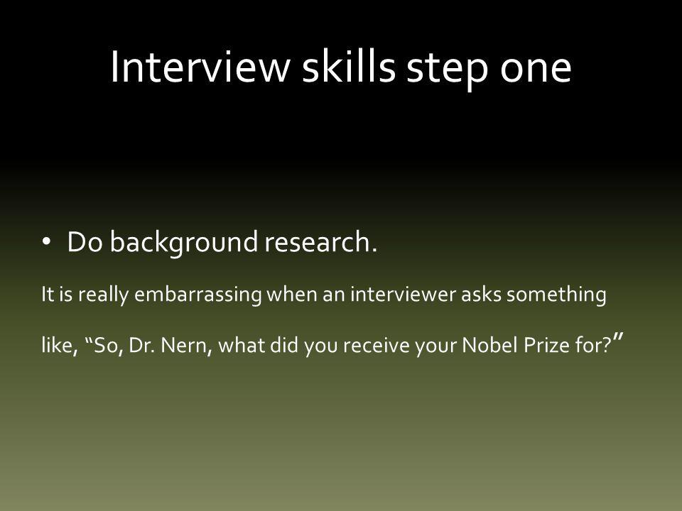 Interview skills: step five Sensitive questions.