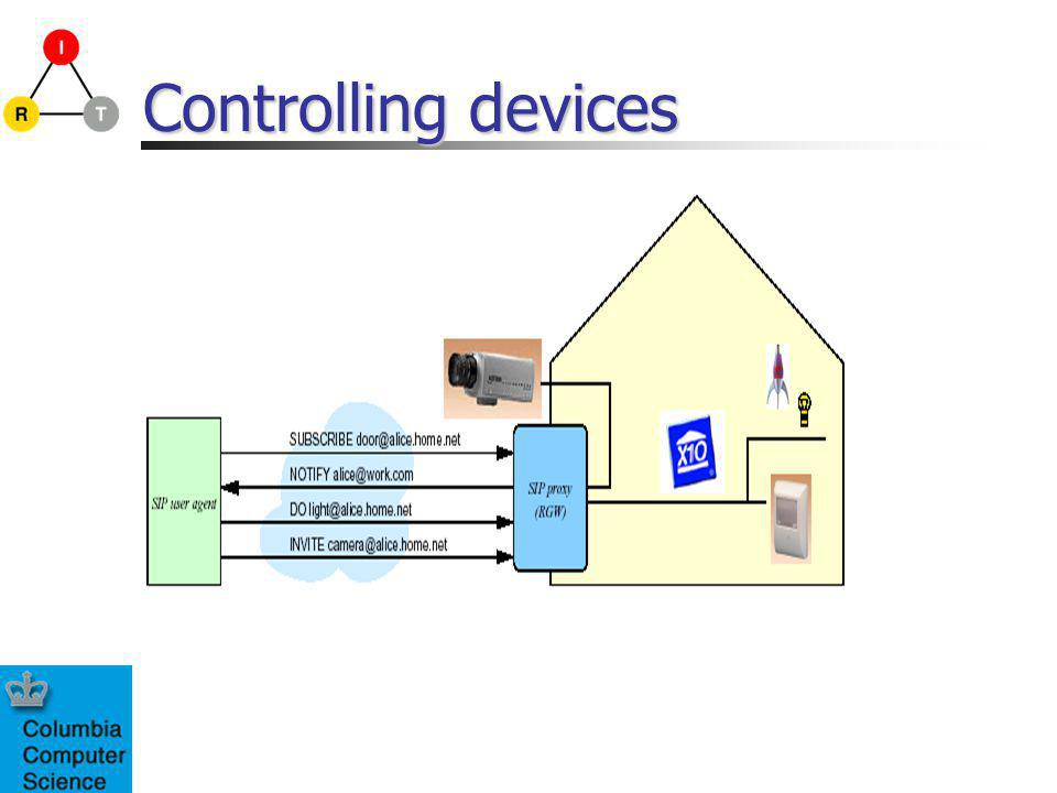 Controlling devices