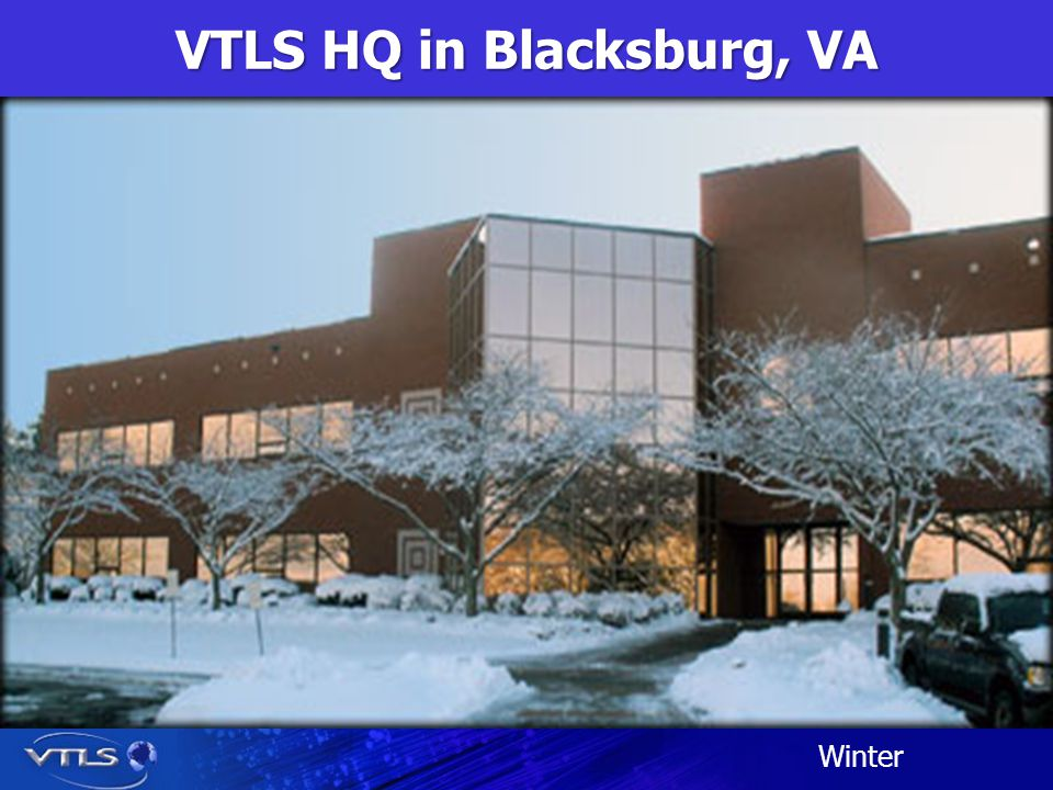 VTLS HQ in Blacksburg, VA Winter