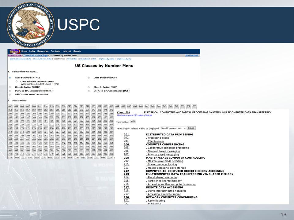 USPC 16