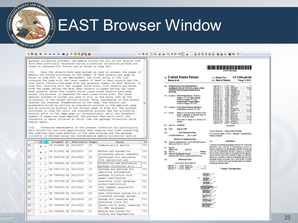 EAST Browser Window 23