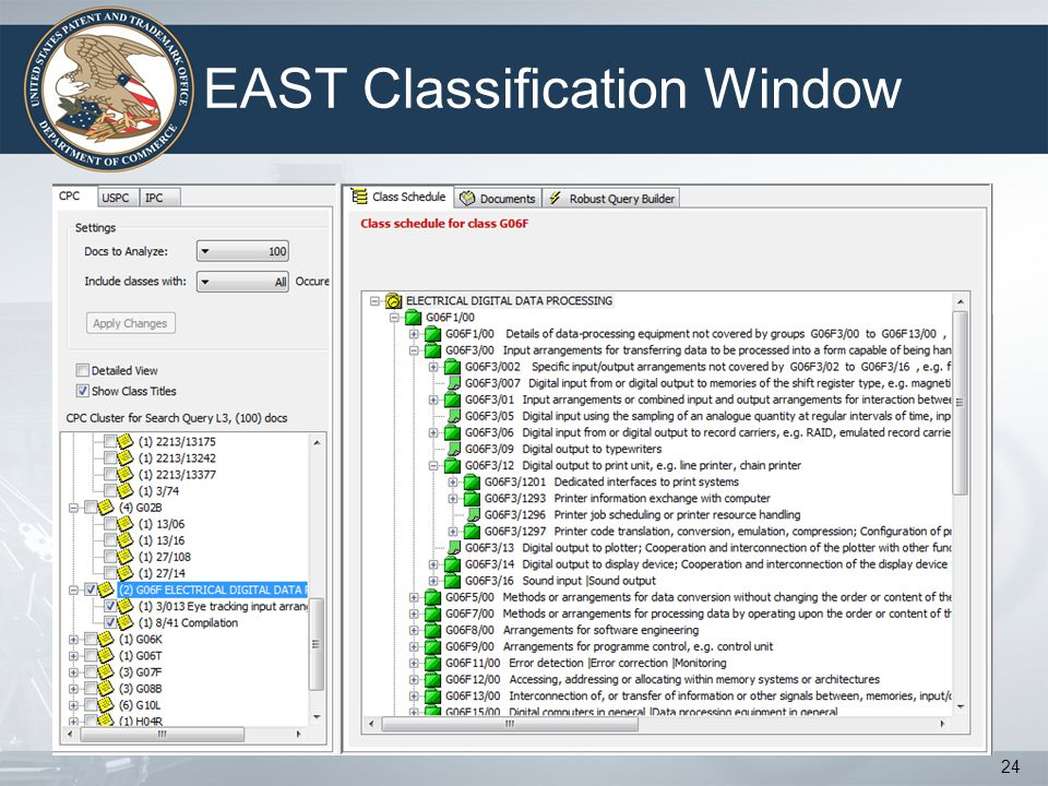 EAST Classification Window 24